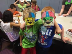 Masks were made for Vacation Bible School 2015